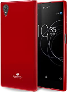 GOOSPERY Pearl Jelly for Sony Xperia XA1 Plus Case with Screen Protector Slim Thin Rubber Case (Red) XPXA1P-JEL/SP-RED
