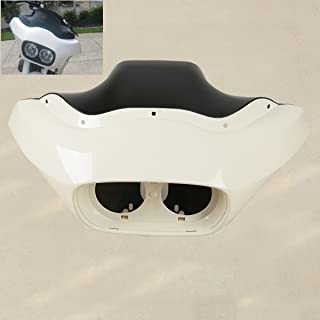 XMT-MOTO Unpainted ABS Inner Outer Headlight Fairing fits for Harley Davidson FLTR Road Glide 1998-2013