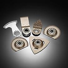 Mainstayae 6pcs Mix Oscillating Saw Wed Kit Multi Tool Carbide Rasp Multitool Accessory