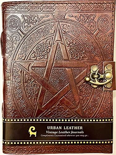 Cuaderno de cuero urbano – Cuaderno de dibujo vintage hecho a mano, sin forro