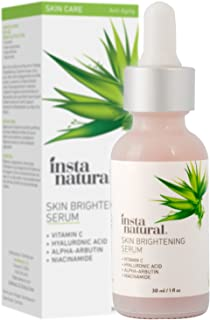 Skin Brightening Serum with Vitamin C - Advanced Antioxidant Serum for Firming Wrinkles, Fine Lines - Lightening Dark Spots, Hyperpigmentation - With Hyaluronic and Niacinamide - InstaNatural - 1 OZ