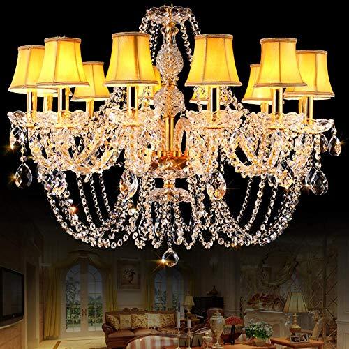 loonju Goldkristallleuchter Neuheit Lichter für Küche Wohnzimmer Lampe lustres de cristal führte Kronleuchter lampadari Hochzeit Dekorieren, 8 Lichter
