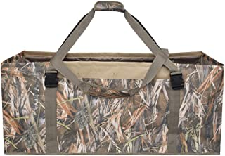 REEKGET 12 Slot Duck Decoys Bag,camo Hunting Bag with Independent Slots and Dirt Drain Design,Reed Paint Hunting Gear for Teal Decoys