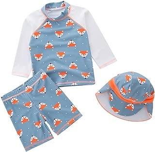 LOSORN ZPY 儿童男孩两件套泳装儿童泳装泳装*带泳帽