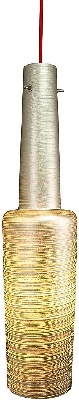 Lampenlux Pendelleuchte Bados E27 Hngeleuchte (Silber, ohne LED-Leuchtmittel)