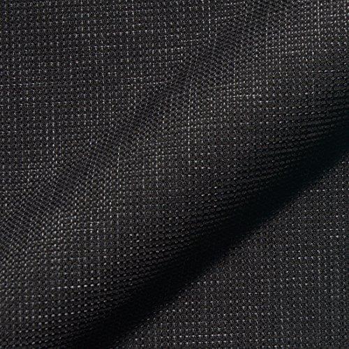 Stoff Polsterstoff Möbelstoff Bezugsstoff Meterware für Stühle, Eckbänke, etc. - Mondo Schwarz Uni - MUSTER