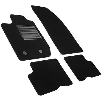 J/&J AUTOMOTIVE Tapis DE Sol Noir Velours Compatible avec Dacia SANDERO STEPWAY 2012-pr/és 4pc