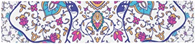 KESS InHouse Frederic Levy-Hadida Owl Purple Table Runner 16 x 180