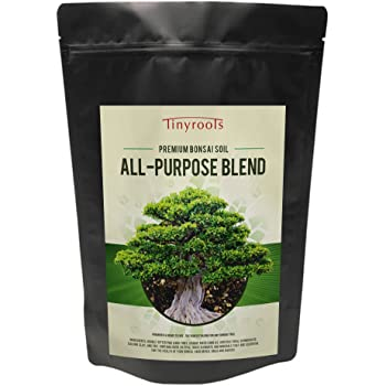 Bonsai Soil by Bonsai Outlet - Tinyroots All-Purpose Soil Mix, Used for Potting All Varieties of Bonsai Trees, 2.5 Gallon