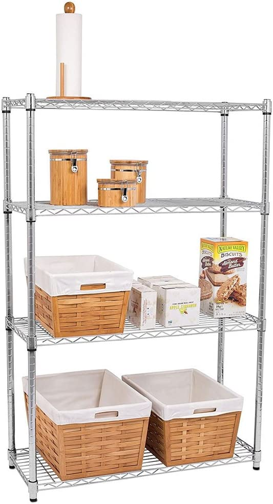 Goujxcy Heavy Duty 4 Tier Wire 25% OFF Shelves To Storage Shelving Super intense SALE Metal