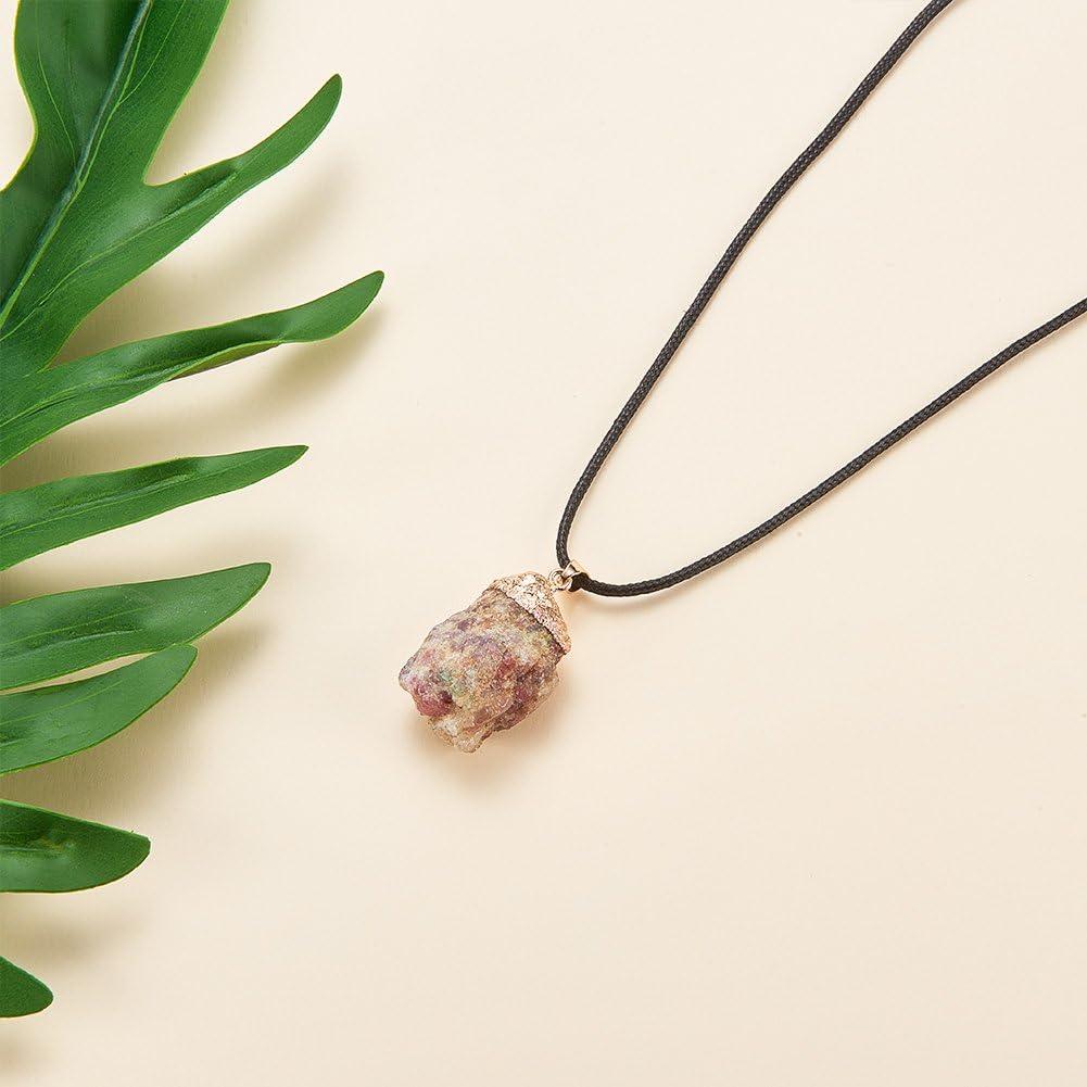Colore Misto#6 Panda Hall Elite 5/unidades /Ágata piedras preciosas colgante Chakra perlas color surtidos DIY cristal colgante 30~38x15~30x12~20mm