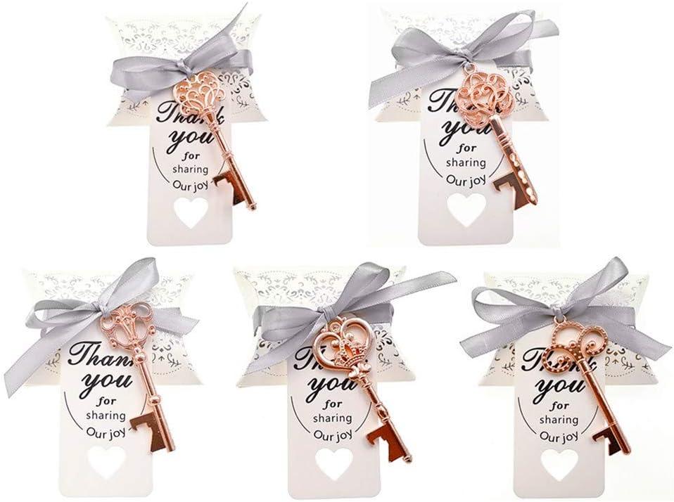Kinteshun Wedding Party Ranking TOP12 Favor shopping Set Skeleton Key Openers Ca Bottle