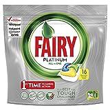 Fairy Platinum - Pastillas para lavavajillas, paquete Limón 16 unidades