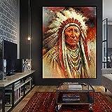 HRUIO Moderno pinturaRetrato de Di'an Featherno Tejido impresiónde Arte hdpara dormitorios modernos-40 * 50cm