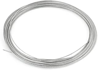 uxcell 1mm Dia. 7x7 10m Long Stainless Steel Wire Rope Cable for Grinding Machine