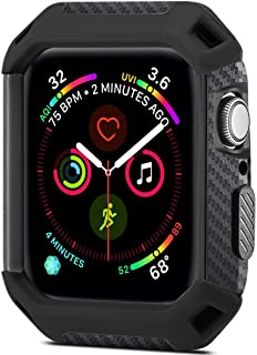 Libra Gemini Compatible with Apple Watch 4 Case Protector 44mm 2018, Shock Proof Protective Rugged Case Scratch Resistant Bumper Protector Cover Replacement for Apple Watch Series 4 (Black)