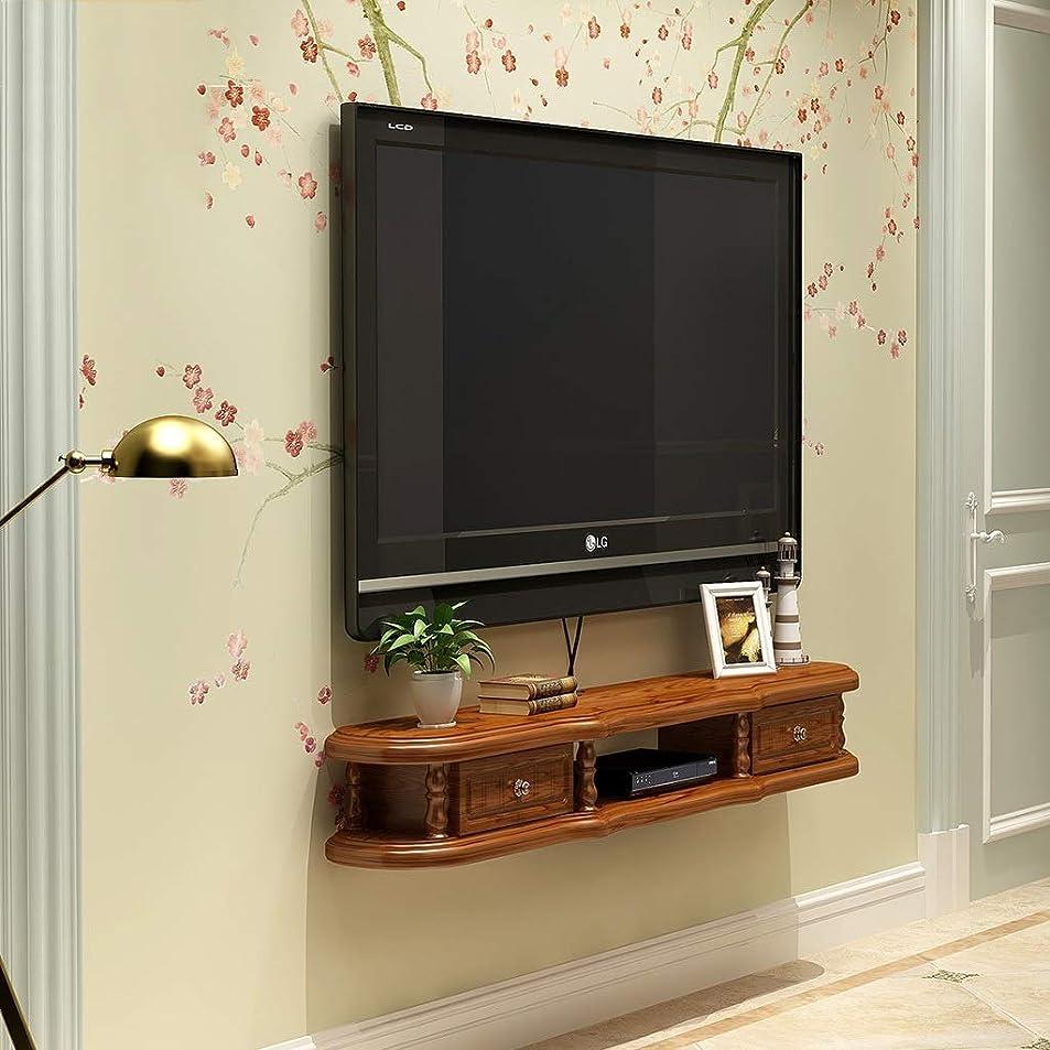 重さぬいぐるみ千FU HOME 壁掛けテレビスタンド棚ラックキャビネットメディアエンターテイメントコンソールゲーミング棚ユニット2引き出し付きホーム家具 (色 : White+brown, サイズ さいず : 120cm)