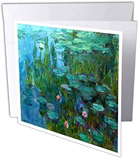 3dRose Monets Water Lillies Painting - Greeting Cards, 6 x 6 inches, set of 12 (gc_49340_2)
