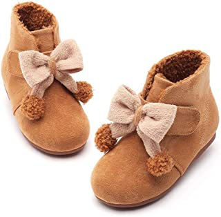 FX Girl's Boots, Winter Plus Velvet Children's Cotton Boots, 1-2 Years Old And 3 Years Old Baby Short Boots, Princess Boots, Color Matching Butterfly