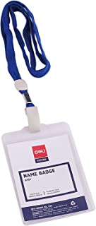 Deli E5757 Name Badge/Lanyard Pvc For Extra Durability