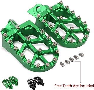 Foot Pegs Footpegs Footrest Pedals CNC Aluminum Foot rests For Kawasaki KX65 KX 65 KX85 00-07 KX80 KX 80 00-98 KX100 98-07 RM65 RM100 03-07 Motorcycle Dirt Bike Green