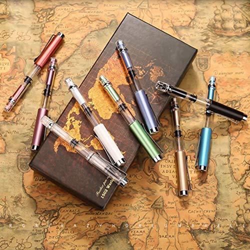 ACHICOO Leitungswasser weicher Kolbenpinsel-Stift, große Kapazität, Tintenaufbewahrung, Student Schreibwaren, Champagner