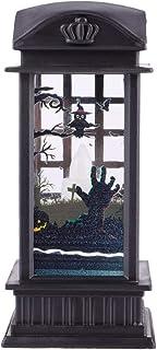 KESYOO Halloween Night Lamp Halloween Themed Pattern Wind Lamp Decorative Lantern Halloween Party Ornament (Ghost Hand Pat...