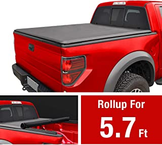 MaxMate Soft Roll Up Truck Bed Tonneau Cover for 2019 Ram 1500 New Body Style | Without Ram Box | Fleetside 5.7' Bed