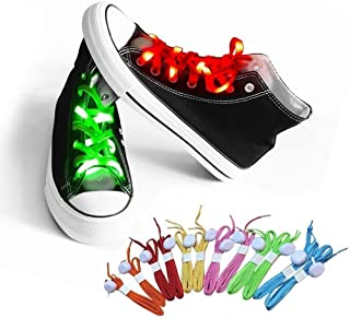 bd7f093be8279b AYAMAYA LED Shoelaces Nylon Glow Shoes Laces with Three Flashing Modes  Light Up Accessories for Dancing