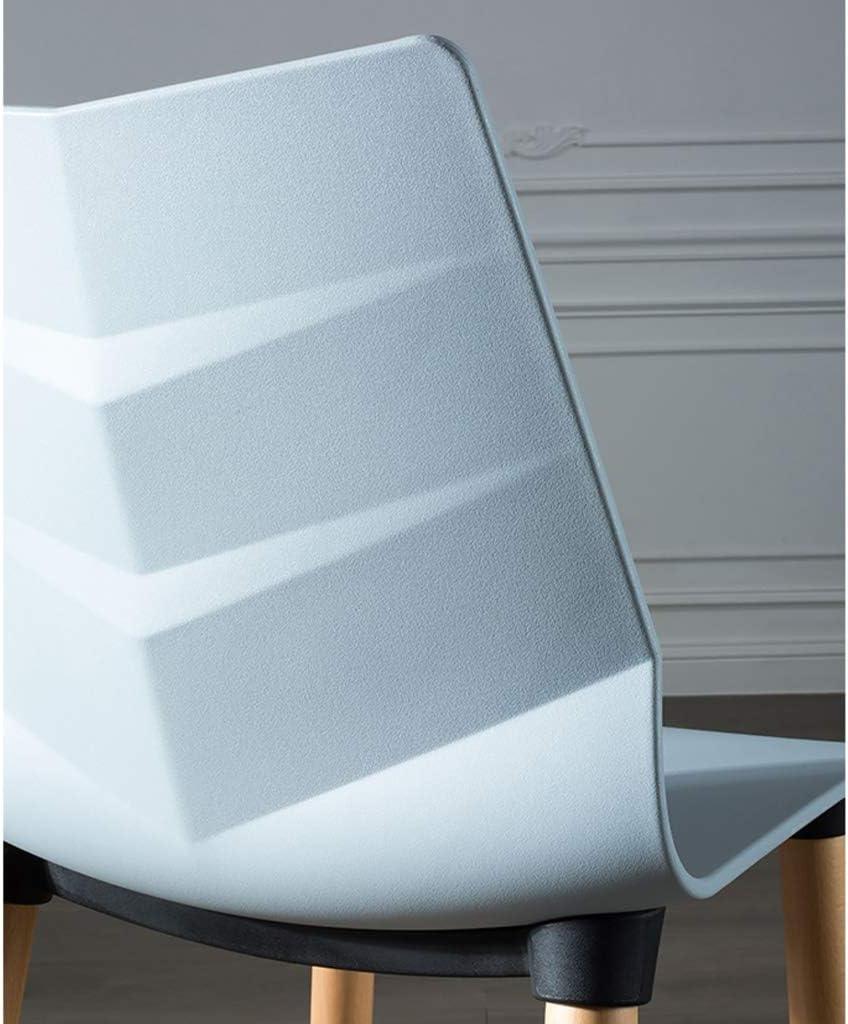 HXF- Chaise de salle à manger, chaise de bureau simple, dossier créatif, chaise de loisirs, chaise de salle à manger pour adulte durable (couleur : bleu marine) Rouge