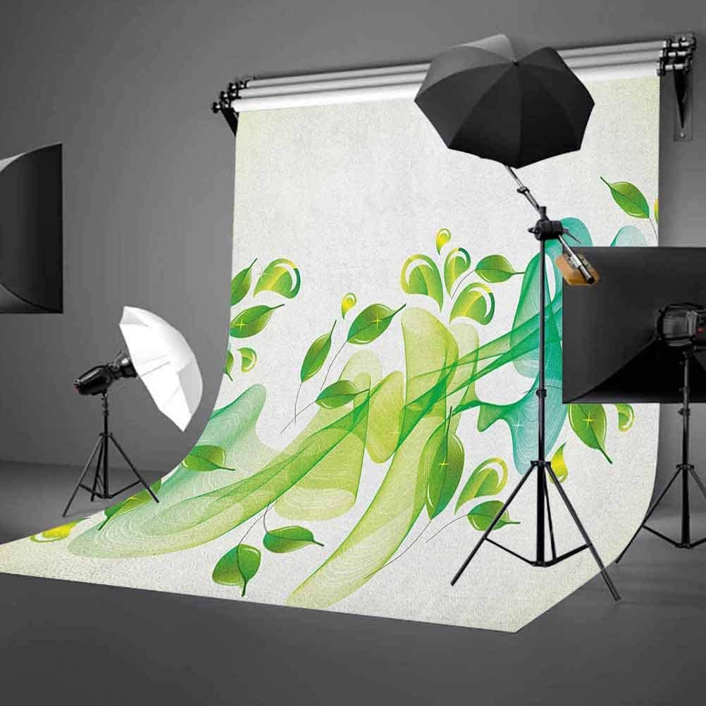 8x12 FT Victorian Vinyl Photography Backdrop,Frightened People Antique Sketch Art Floral Arch Flowers Leaves Western Culture Background for Baby Birthday Party Wedding Graduation Home Decoration