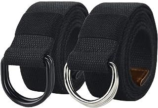 حزام أسود رجالي، أحزمة شبكية عسكرية للرجال، حزام قماشي مزدوج الحلقة