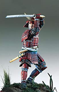 1/32 54Mm Samuraj Wojownik Starożytny Czerwony Płaszcz 54Mm Historyczny Model Figurki Z Żywicy Miniaturowy Zestaw Unassamb...