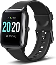 Lintelek Smart Watch, Full Touch Screen Smartwatch, 1.3 Inch Fitness Tracker with HR..