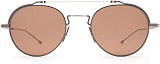 Luxury Fashion   Thom Browne Womens TBS912BLKSLV Silver Sunglasses   Fall Winter 19