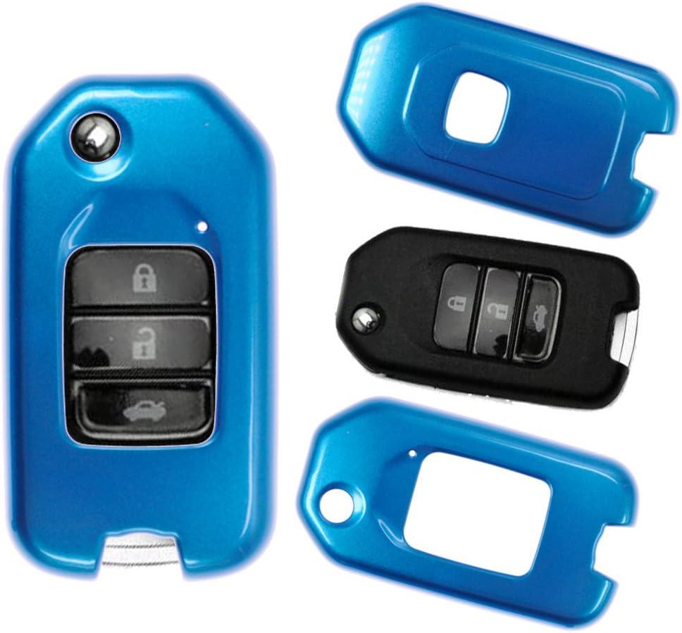 Klapp Schlüssel Hülle Hartschale Cover Rot Für Honda Elektronik