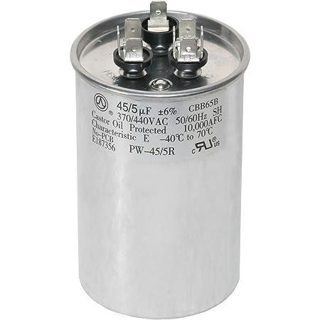 80//5 uf MFD 370//440 Volt VAC fits York # 1498-580 1498-5801 ClimaTek Round Capacitor