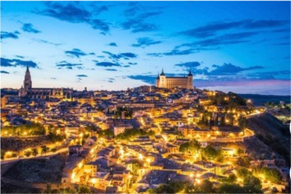 ZZXSY Puzzles De Madera 1000 Piezas Vista General De Toledo En La Noche. España Apto: Amazon.es: Hogar