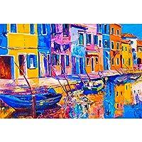 300,500,1000の部分手描きの抽象的な油絵シリーズパズルおもちゃ、独占的な高度な手作りのパズル、大人の子供のパズルの卒業または誕生日プレゼーション家の装飾 (Color : 300PCS)