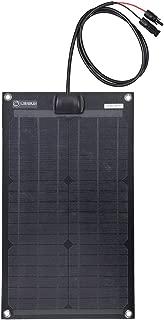 Lensun 30W 12V Black Fiberglass Semi-Flexible Monocrystalline Solar Panel for 12V Charge Battery on Boats, Caravans, Motorhomes, Yachts, RVs