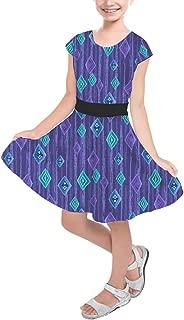 Rainbow Rules Scandinavian Frozen Crystals Girls Short Sleeve Skater Dress