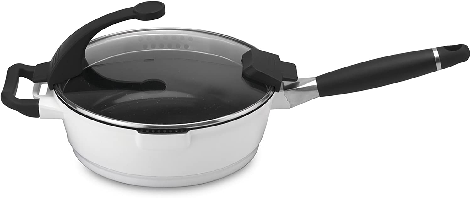 Berghoff Virgo Induction-Safe San Diego Limited price Mall Non-Stick Glass Deep with Skillet