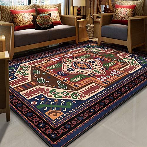 LLGHT Alfombra Oriental Tradicional rectángulo Alfombra Estilo Persa Alfombras marroquíes Vintage para el Piso de la Sala de Estar Los 80cm los x 160cm (Color : 5, Size : 140×200cm)