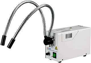 AmScope HL250-AY Dual-Gooseneck Fiber Optic Stereo Microscope Light, 150W Halogen Light Source, 110V-120V