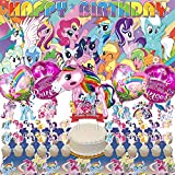My Little Pony Party Supplies   For Girls   Decorations   Birthday   Banner   Backdrop   Balloons   Favors