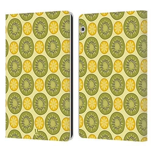 Head Case Designs Zitrus Und Kiwi Obst Muster Leder Brieftaschen Huelle kompatibel mit Huawei MediaPad T3 10