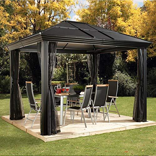 Sojag Aluminium Pavillon, Überdachung, Gazebo, Sommerpavillon, Gartenlaube Cambridge 10x12, 362x297x273 cm