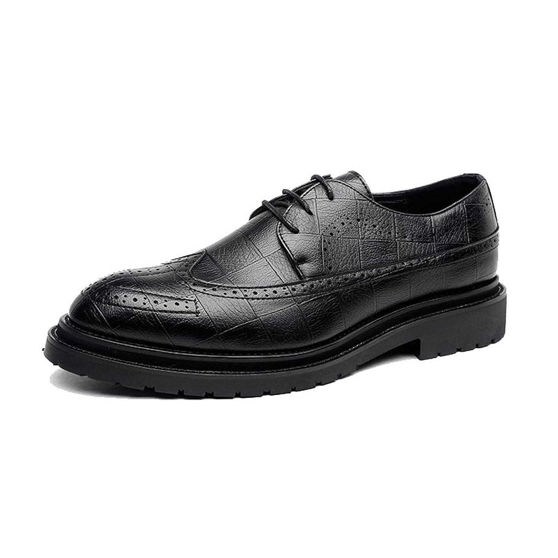 [Hardy] 男性 メンズ ビジネスシューズ ビジネス 通気性 柔軟 紳士靴 PUレザー クラシック 革靴 ファッション