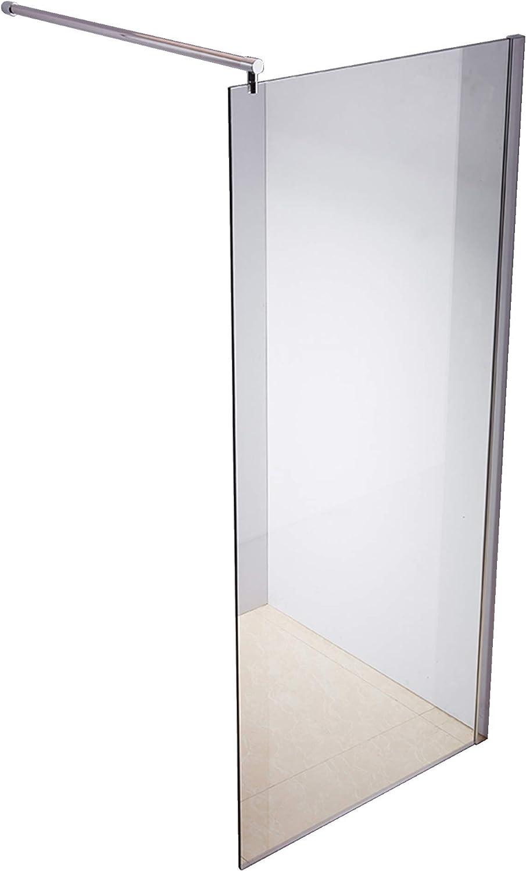Rapid Teck  Walk In 10mm Duschwand Glas 90cm x 200cm ESG Sicherheitsglas Duschabtrennung Duschkabine Duschabtrennung Duschtrennwand