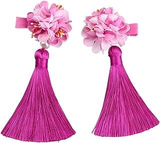 Tracfy Baby Girls Hair Accessories Chinese Ribbon Girls Headpiece Hairpins Tassel Hair Clips Princess Mini Headdress